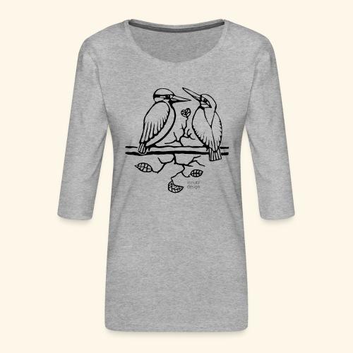 Eisvogel Liebe - Frauen Premium 3/4-Arm Shirt