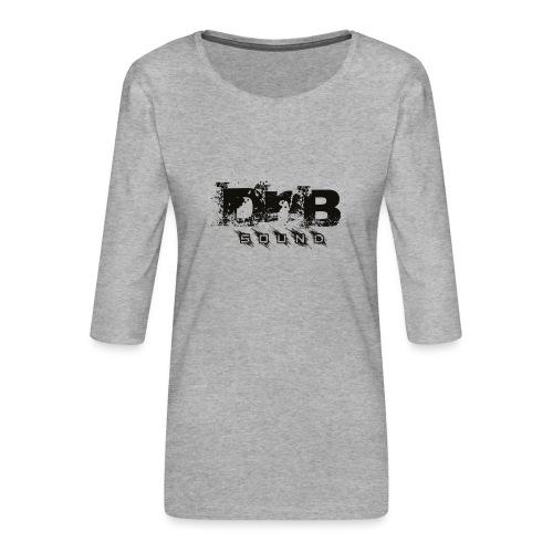 DNB Sound - Maglietta da donna premium con manica a 3/4