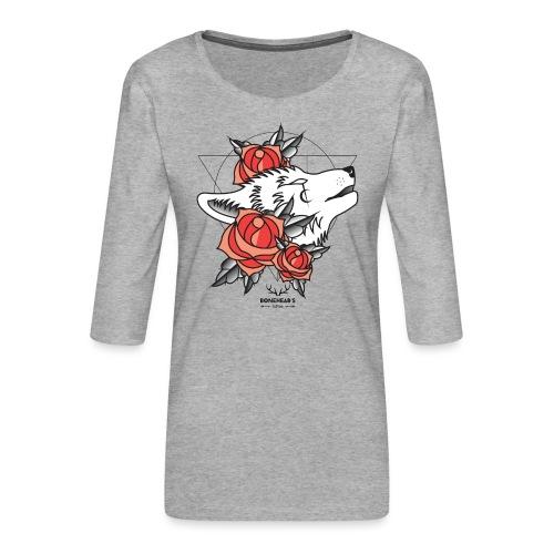 Wolfhead - Women's Premium 3/4-Sleeve T-Shirt