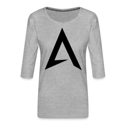 alpharock A logo - Women's Premium 3/4-Sleeve T-Shirt