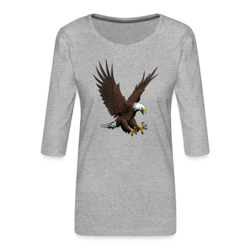 Adler sturzflug - Frauen Premium 3/4-Arm Shirt