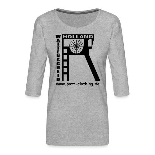 Zeche Holland (Wattenscheid) - Frauen Premium 3/4-Arm Shirt