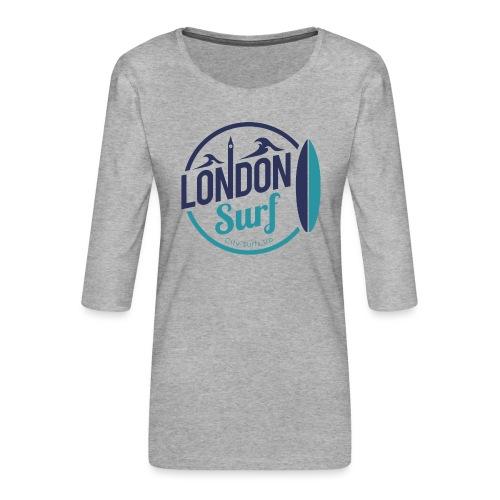 London Surf Classic Logo - Women's Premium 3/4-Sleeve T-Shirt