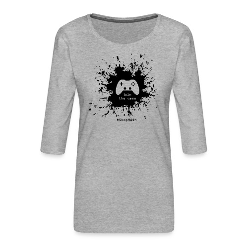 Join the game - Women's Premium 3/4-Sleeve T-Shirt
