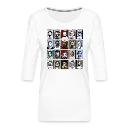 ACEO - Maglietta da donna premium con manica a 3/4