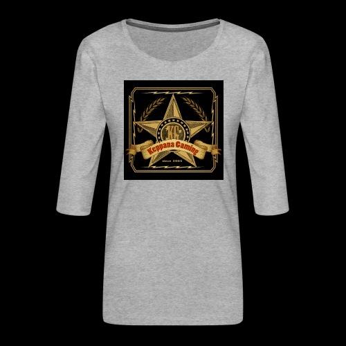etiketti - Naisten premium 3/4-hihainen paita