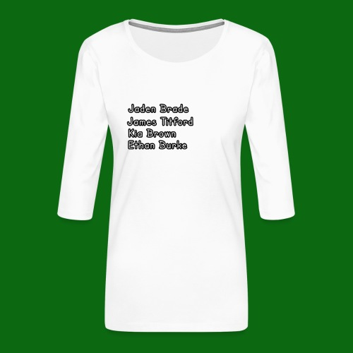 Glog names - Women's Premium 3/4-Sleeve T-Shirt