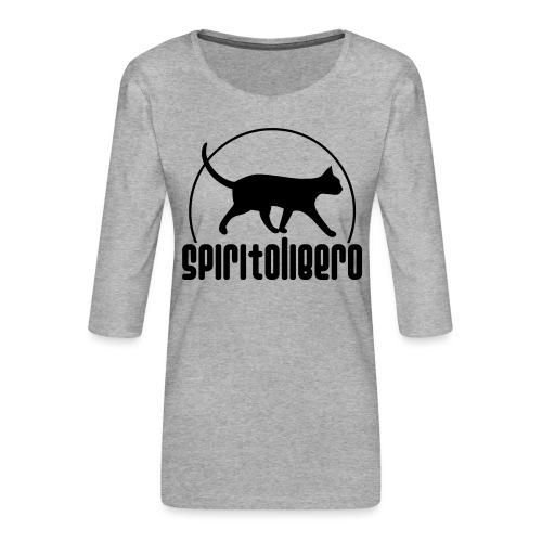 spiritolibero - Maglietta da donna premium con manica a 3/4