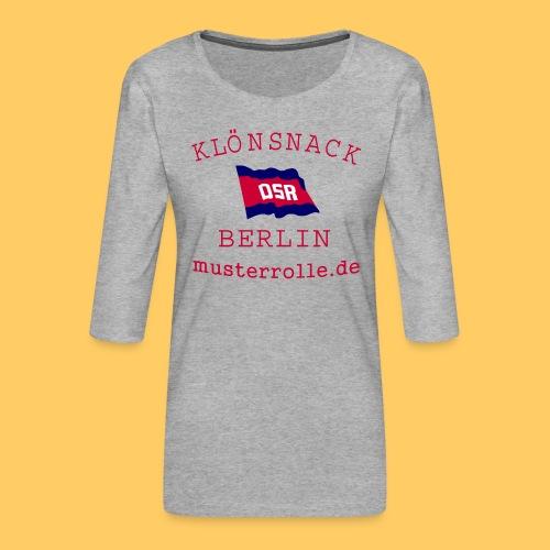 KiB-Logo-gif - Frauen Premium 3/4-Arm Shirt