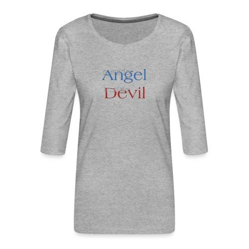 Angelo o Diavolo? - Maglietta da donna premium con manica a 3/4