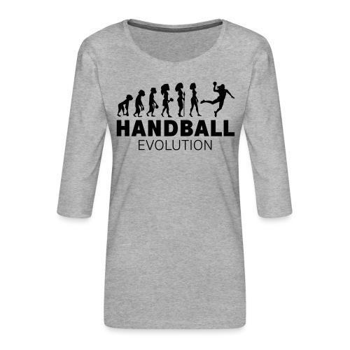 HANDBALL ÉVOLUTION FEMME - T-shirt Premium manches 3/4 Femme