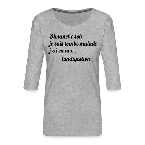 La lundigestion - T-shirt Premium manches 3/4 Femme