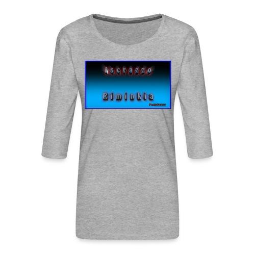 Iscrazzo_riminkia - Maglietta da donna premium con manica a 3/4