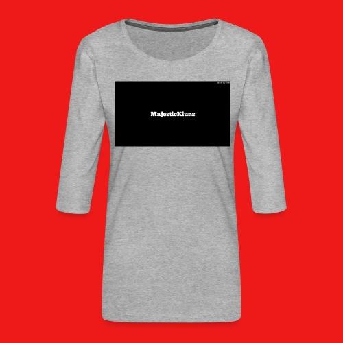 New - Dame Premium shirt med 3/4-ærmer