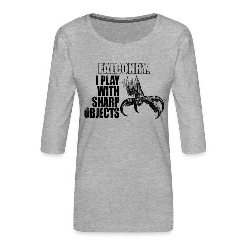 falconry - królestwo sokolnictwa - Koszulka damska Premium z rękawem 3/4