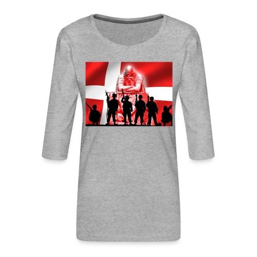Holger Danske - Dame Premium shirt med 3/4-ærmer