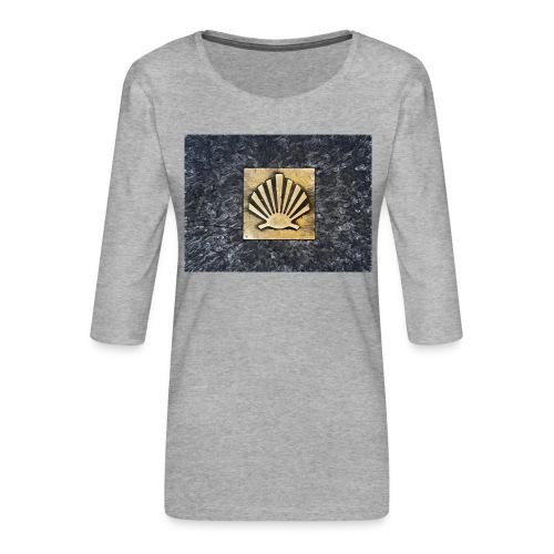 Scallop Shell Camino de Santiago - Women's Premium 3/4-Sleeve T-Shirt