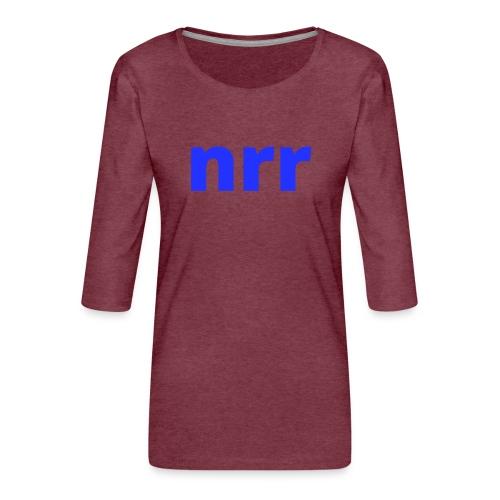 NEARER logo - Women's Premium 3/4-Sleeve T-Shirt