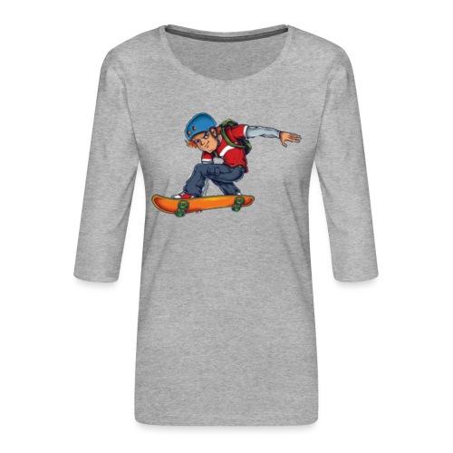 Skater - Women's Premium 3/4-Sleeve T-Shirt