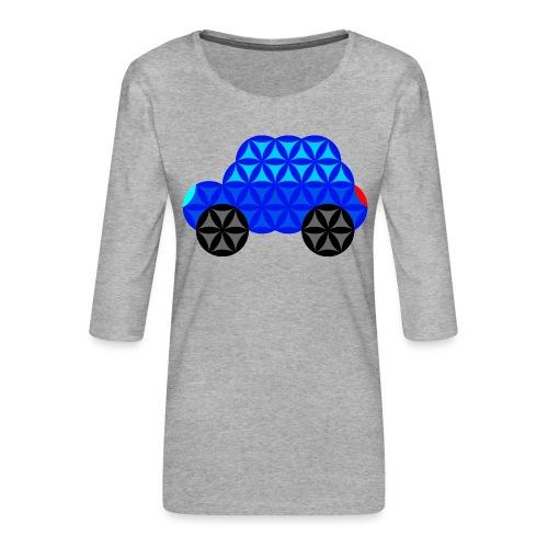The Car Of Life - M01, Sacred Shapes, Blue/R01. - Women's Premium 3/4-Sleeve T-Shirt