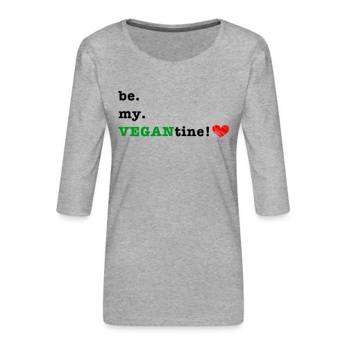 VEGANtine Green - Women's Premium 3/4-Sleeve T-Shirt
