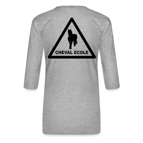 chevalecoletshirt - T-shirt Premium manches 3/4 Femme