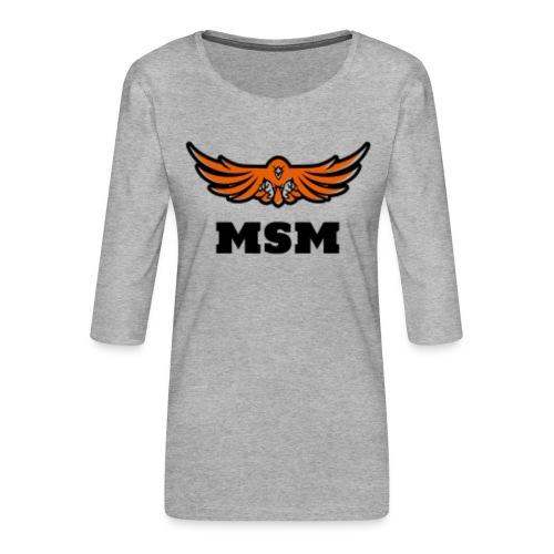 MSM EAGLE - Dame Premium shirt med 3/4-ærmer