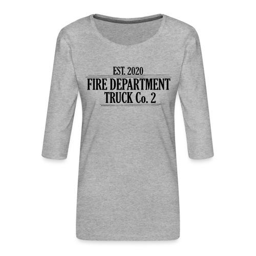 Truck Co.2 - BLACK - Dame Premium shirt med 3/4-ærmer