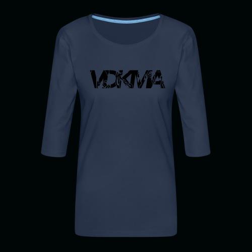vdkma x 130 x spörts - Naisten premium 3/4-hihainen paita