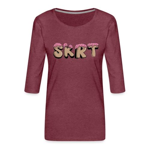SKRT - Maglietta da donna premium con manica a 3/4