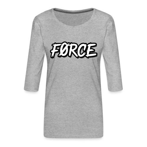 K - Vrouwen premium shirt 3/4-mouw