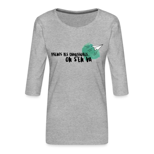 test - T-shirt Premium manches 3/4 Femme