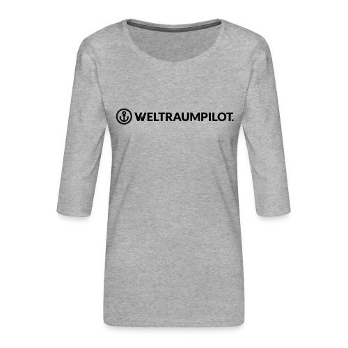 weltraumpilotquer - Frauen Premium 3/4-Arm Shirt