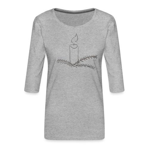 Klar til jul - Dame Premium shirt med 3/4-ærmer