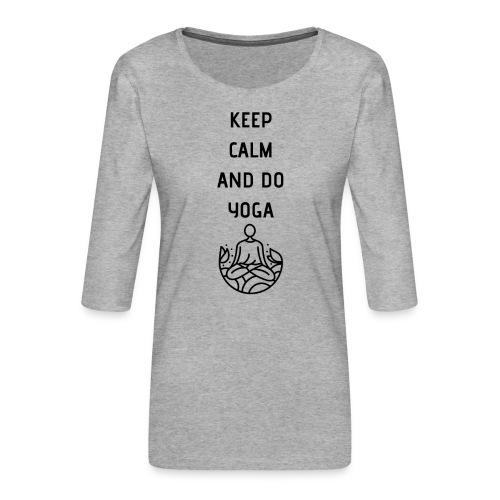Yoga - Maglietta da donna premium con manica a 3/4