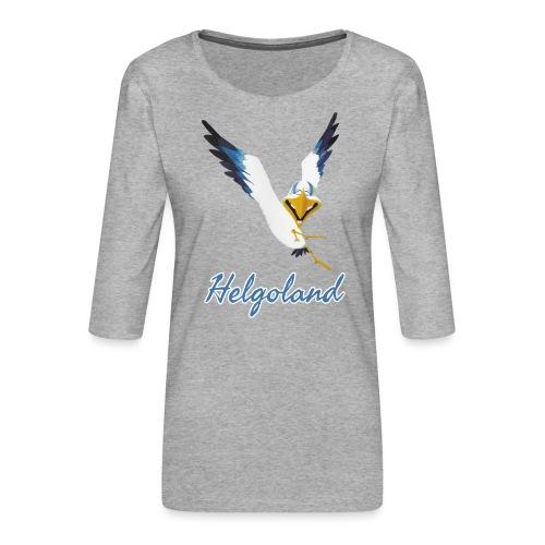 Lachmöwe Helgoland - Frauen Premium 3/4-Arm Shirt