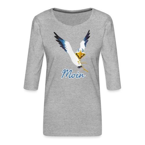 Moin Lachmöwe - Frauen Premium 3/4-Arm Shirt