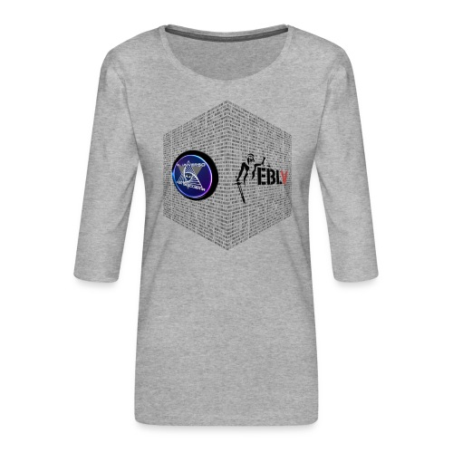 disen o dos canales cubo binario logos delante - Women's Premium 3/4-Sleeve T-Shirt