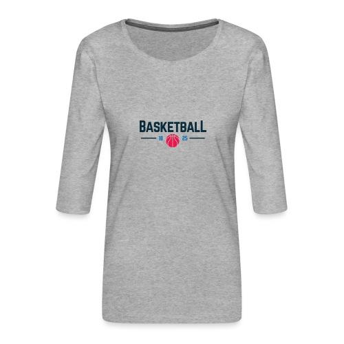 Basketball - Maglietta da donna premium con manica a 3/4