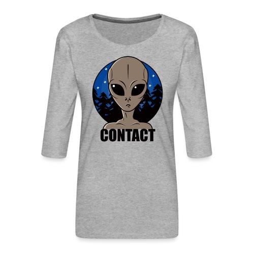 Contact Extraterrestre - T-shirt Premium manches 3/4 Femme