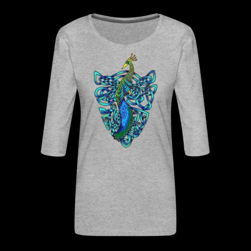 Peacock - Women's Premium 3/4-Sleeve T-Shirt