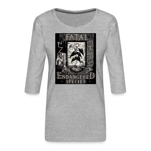 fatal charm - endangered species - Women's Premium 3/4-Sleeve T-Shirt