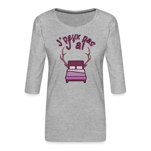 Je peux pas j'ai Lit Corne (Licorne) - T-shirt Premium manches 3/4 Femme