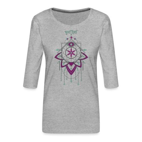 Saat des Lebens Einheit Göttin Mutter Erde - Frauen Premium 3/4-Arm Shirt