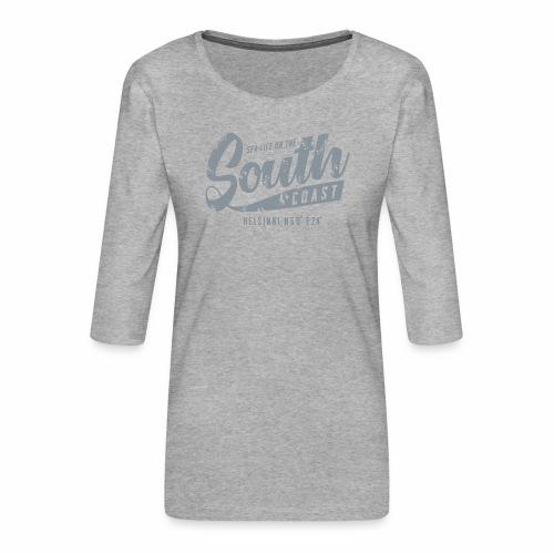 ETELÄRANNIKKO, SOUTH COAST HELSINKI COOL T-SHIRTS - Naisten premium 3/4-hihainen paita