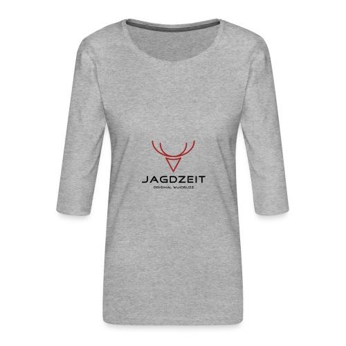WUIDBUZZ   Jagdzeit   Männersache - Frauen Premium 3/4-Arm Shirt
