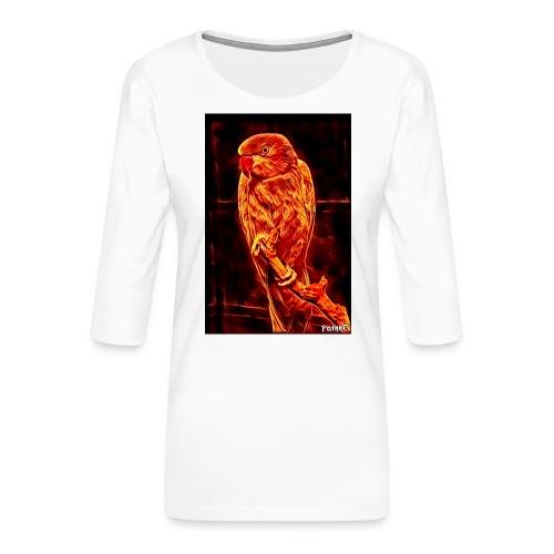 Bird in flames - Naisten premium 3/4-hihainen paita
