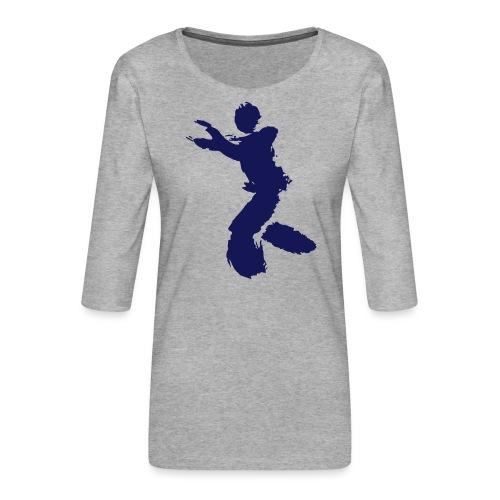 Wing Chun / Kung Fu Tusche Figur VEKTOR - Women's Premium 3/4-Sleeve T-Shirt