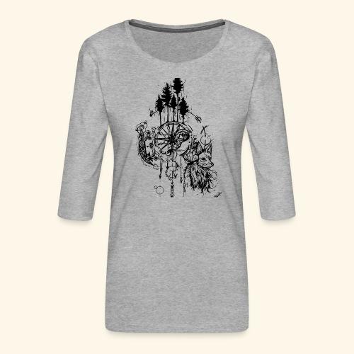 renard nature - T-shirt Premium manches 3/4 Femme