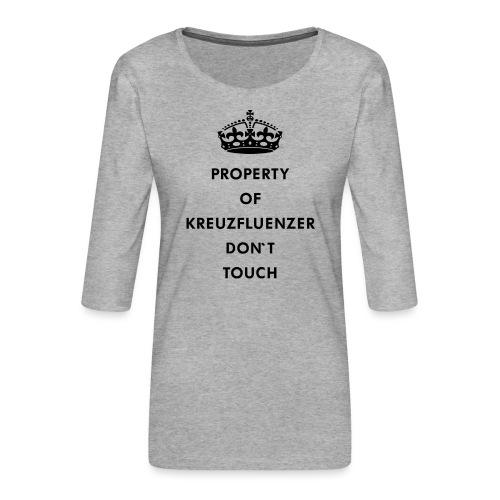 Kreuzfluenzer Don´t Touch Black - Frauen Premium 3/4-Arm Shirt